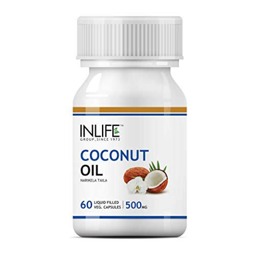 Inlife Natural Coconut Oil Supplement 500 mg (60 Capsules)