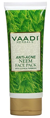 Vaadi Herbals Anti Acne With Clove And Turmeric Neem Face Pack (120gm)