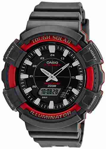 Casio Youth AD-S800WH-4AVDF (AD189) Series Analog-Digital Black Dial Unisex Watch (AD-S800WH-4AVDF (AD189))