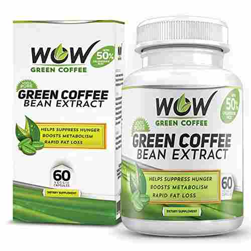 Wow Green Coffee Bean Extract 800 mg Supplement (60 Capsules)