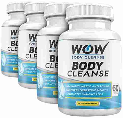 Wow Wow Body Cleanse (60 Capsules, Pack of 4)