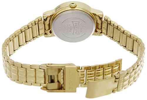 Sonata 8976YM09CJ Analog Gold Dial Women's Watch