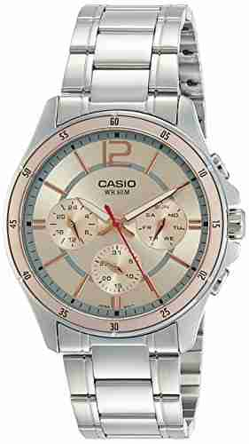 Casio Enticer MTP-1374D-9AVDF (A952) Analog Pink Dial Men's Watch (MTP-1374D-9AVDF (A952))