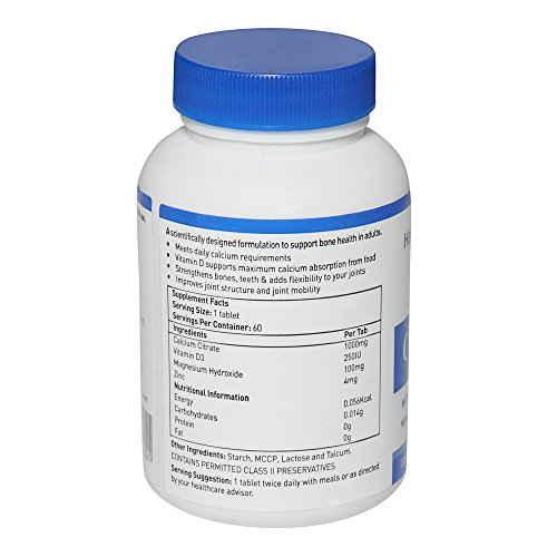 Healthviva Calcium With Vitamin D3 & Magnesium (60 Capsules)