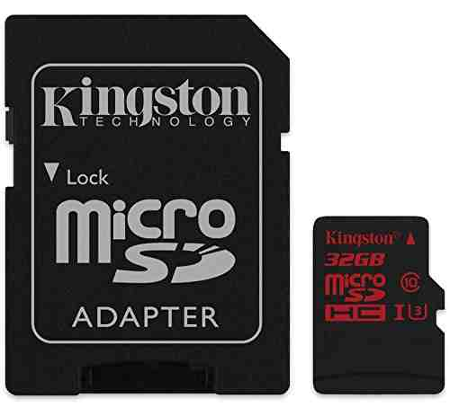 Kingston 32GB MicroSDHC Class 10 (90MB/s) UHS-1/U3 Memory Card
