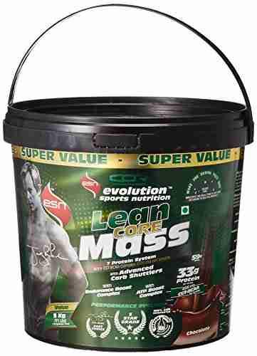 Esn Lean Core Mass Gainer (5Kg, Chocolate)