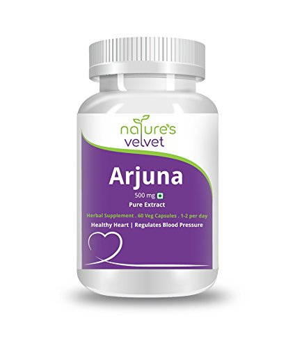 Natures Velvet Pure Extract Arjuna 500mg Supplements (60 Capsules)