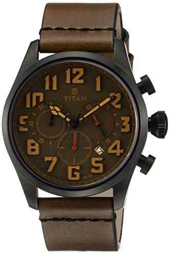 Titan 9477NL02J Purple Analog Watch