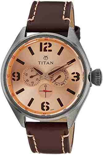 Titan 9478QL04J Purple Analog Watch