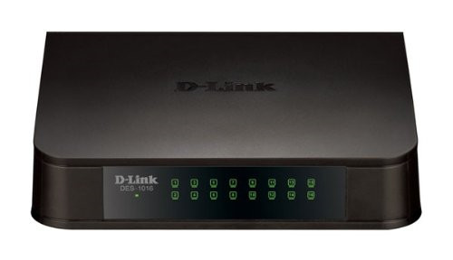 D-Link 16-Port 10/100 Mbps Unmanaged Fast Ethernet Switch DES-1016A Network Switch