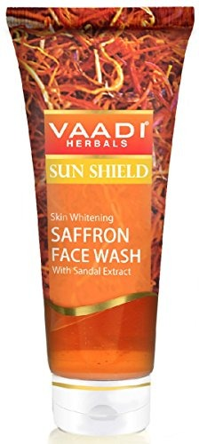 Vaadi Herbals Skin Whitening With Sandal Extract Saffron Face Wash, 60 ML