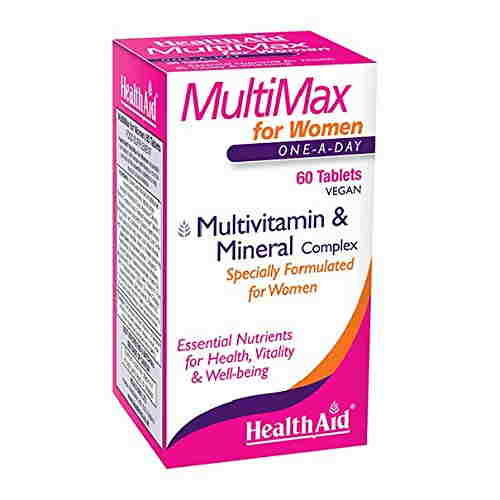 Health Aid MultiMax Vitamin and Mineral for Women Supplements (60 Veg Tablets)