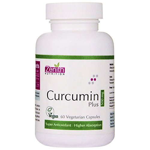 Zenith Nutrition Curcumin Plus 500mg Supplements (60 Capsules)