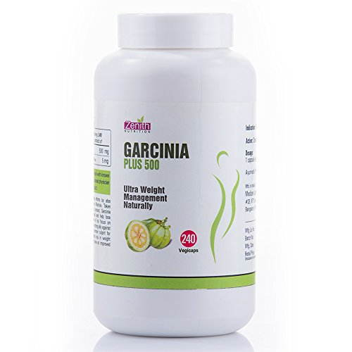 Zenith Nutrition Garcinia Cambogia Plus 500mg Supplements (240 Capsules)