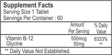 Healthvit B12 500 Mcg Supplement (60 Capsules)