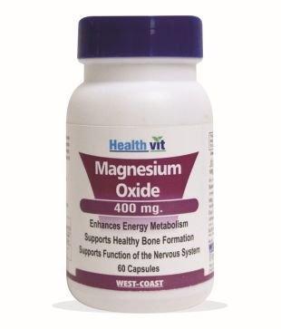 Healthvit Magnesium Oxide 400 mg (60 Capsules)