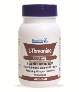 Healthvit L-Threonine 500mg (60 Capsules)