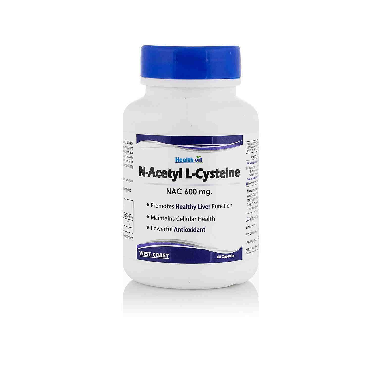 Healthvit N-Acetyl Cysteine NAC 600 mg (60 Capsules)