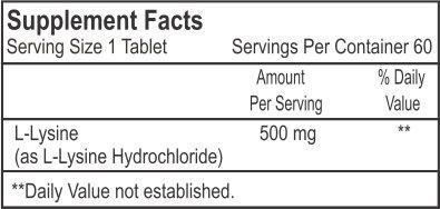 Healthvit L Lysine 500 mg Supplements (60 Capsules)