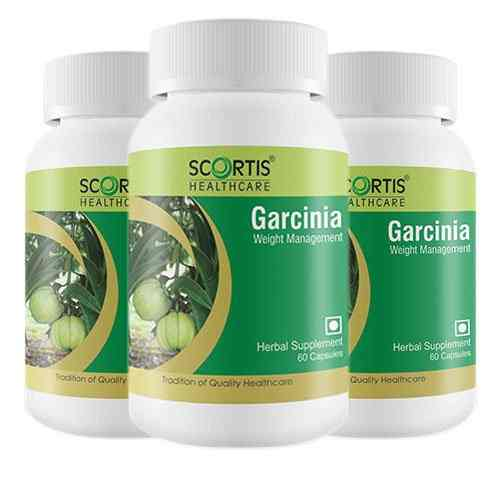 Scortis Garcinia Cambogia Supplement 350mg (60 Capsules) - Pack of 3