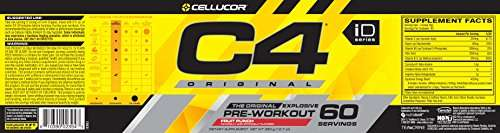 Cellucor C4 Explosive Fruit Punch Preworkout Supplement (60 Servings)