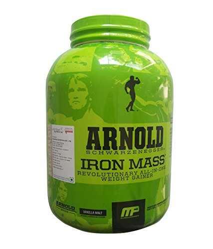 MP Arnold Schwarzenegger Series Iron Mass Weight Gainer (2.26Kg, Vanilla)