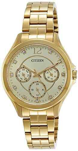 Citizen ED8142-51P Analog Gold Dial Women's Watch