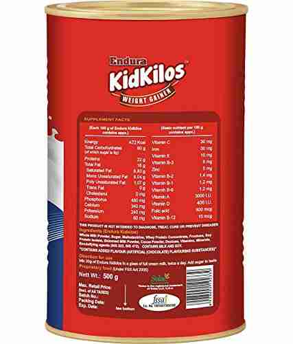 Endura Kidkilos Weight Gainer (500gm, Chocolate)