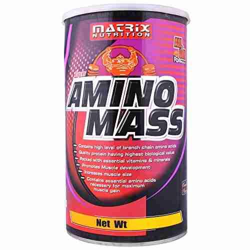 Matrix Nutrition Amino Mass Gainer (1Kg / 2.2lbs, Chocolate)