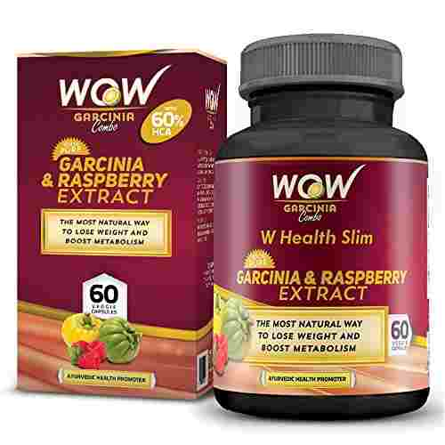 Wow Garcinia And Raspberry 800 mg Extract Supplements (60 Capsules)