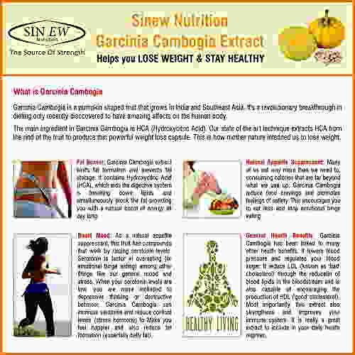 Sinew Nutrition Garcinia Cambogia Extract Supplement (800 mg, 90 Caps)
