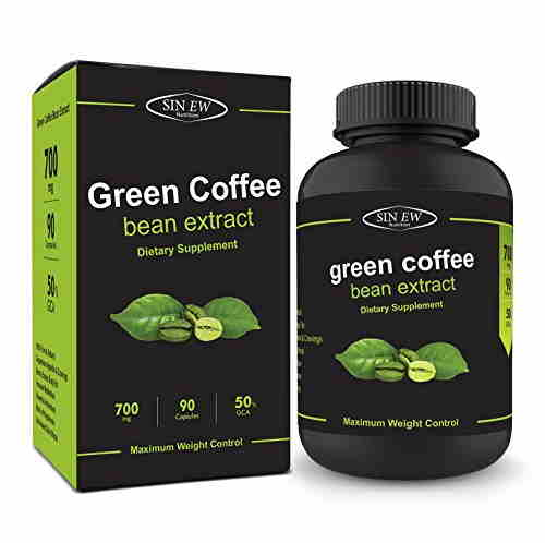 Sinew Nutrition Green Coffee Bean Extract 800 mg Supplements (90 Capsules)