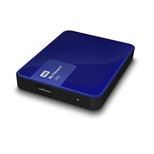 WD WDBBKD0020BBL 2TB My Passport Ultra Portable External Hard Drive USB 3.0 Blue