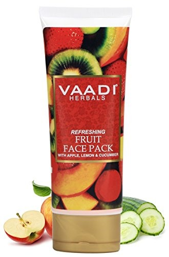 Vaadi Herbals With Apple Lemon and Cucumber Refreshing Fruit Pack, 120 GM