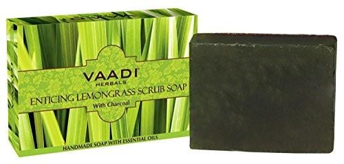 Vaadi Herbals Enticing Lemongrass Scrub Soap 75 GM