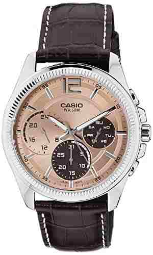 Casio Enticer MTP-E305L-5AVDF (A994) Analog Brown Dial Women's Watch