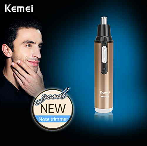 Kemei Km-6619 110-220V Safe Stainless Rechargeable Nose & Ear Hair Removal Trimmer