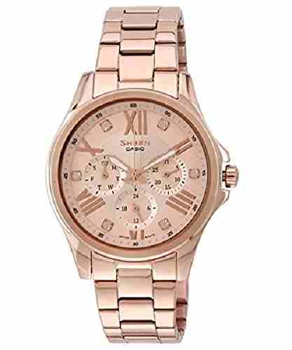 Casio Sheen SHE-3806PG-9A (SX149) Analog Multi Color Dial Women's Watch (SHE-3806PG-9A (SX149))