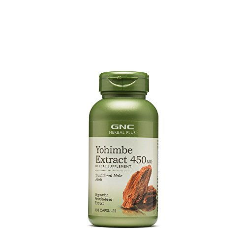 GNC Yohimbe Extract 450 mg Supplements (100 Capsules)