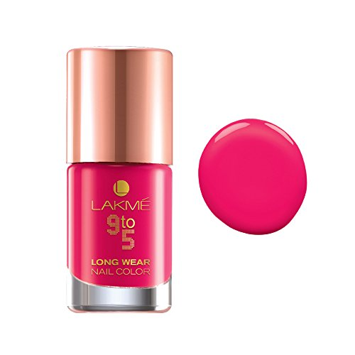Lakme 9 To 5 Long Wear Nail Color - Pink Blast
