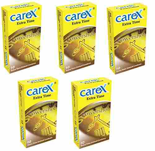 Carex Powershot Extra Time Condoms (50 Condoms)