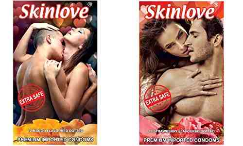 Skinlove Dotted Mango and Strawberry Condoms (24 Condoms)