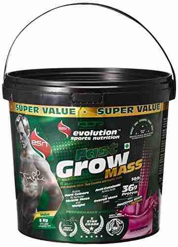 Esn Fast Grow Mass Gainer (5Kg, Strawberry)