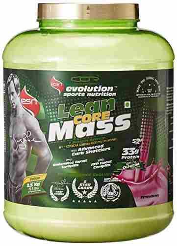 ESN Lean Core Mass Gainer (2.5Kg, Strawberry)