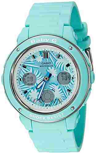 Casio Baby-G BGA-150F-3ADR (B155) Analog Digital Green Dial Women's Watch