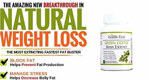 Health First Green Coffee Bean Extract 50% GCA 800 mg (120 Capsules)