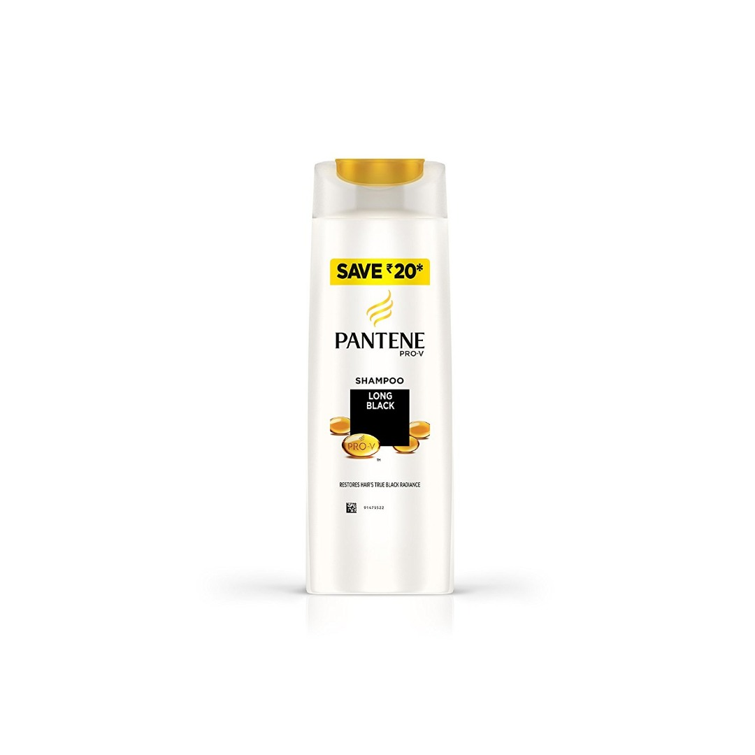 Pantene Long Black Shampoo 180ml