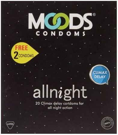 Moods All Night Condoms (20 Condoms Each, Pack of 2)