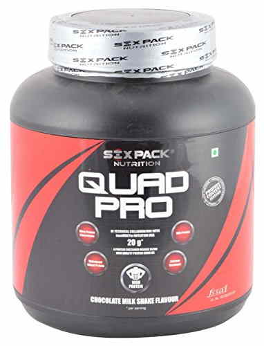 Six Pack Nutrition QUAD Protein (2Kg / 4.41lbs, Chocolate)