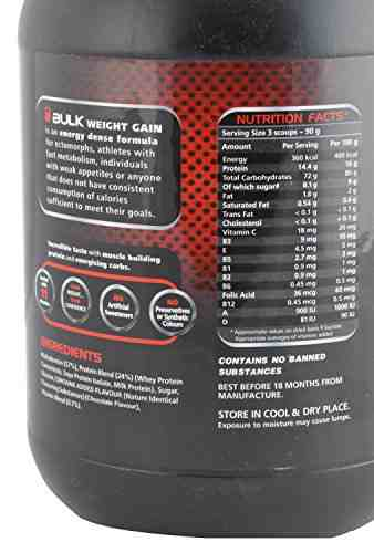 Six Pack Nutrition Bulk Weight Gain (1Kg, Chocolate)